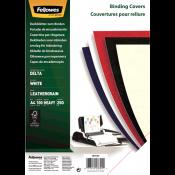 Fellowes leathergrain covers white A4