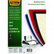 Fellowes leathergrain covers black A4