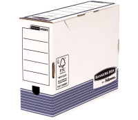 Bankers Box® System transfer file 100 mm A4 white/blue