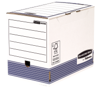 Bankers Box® System transfer file A4+ 200 mm white/blue 10 pk