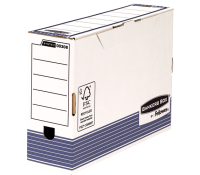 Bankers Box® System foolscap transfer file 100 mm white/blue