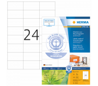 HERMA SPECIAL A4 Recycling labels 70x37mm natural-white recycled paper matt 2400 pcs.