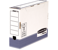 Bankers Box® System transfer file A4+ 80 mm white/blue 10 pk
