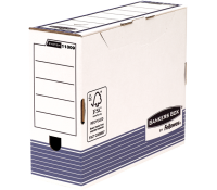 Bankers Box® System transfer file A4+ 100 mm white/blue 10 pk