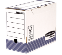 Bankers Box® System transfer file A4+ 150 mm white/blue 10 pk