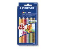 Noris Club 127 - Triangular coloured pencil – set 12 colors