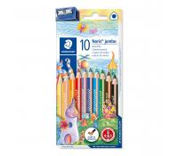 STAEDTLER Noris 128 Triangular jumbo coloured pencil set 10 pcs