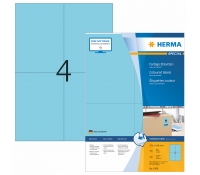 HERMA SPECIAL A4 Coloured labels 105x148mm paper blue mat 400pcs.