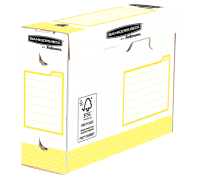 Bankers Box® Basic Heavy Duty 100mm A4+ transfer file - yellow 20 pk