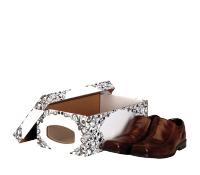 Bankers Box® shoe box end window black/white large 4 pk