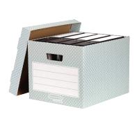 Bankers Box® Style storage box green/white 4 pk