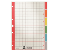 Leitz Divider cardboard. 6tabs; A4