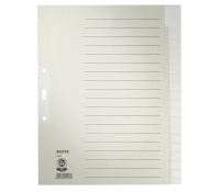 Leitz paper Divider; A4; 20 blank tabs
