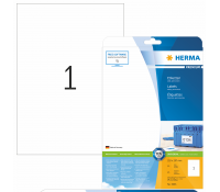 HERMA PREMIUM A4 Multi-purpose labels 210x297mm paper matt 25pcs.