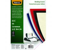 Fellowes FSC® Certified Leathergrain Covers - Red A4