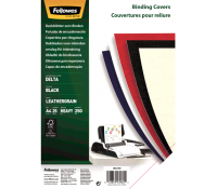 Fellowes FSC® Certified Leathergrain Covers - Black A4