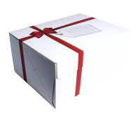 Red Ribbon Mailing Box 35 x 25 x16 cm