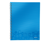 Leitz WOW Get Organised Notebook; PP; A4; squared