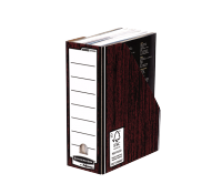 Bankers Box® Premium magazine file woodgrain