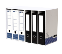 Bankers Box® file store module white/blue