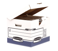 Bankers Box® System flip top cube white/blue