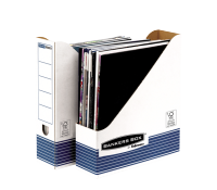 Bankers Box® System magazine file white/blue