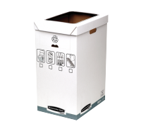 Bankers Box® System recycle bin grey