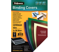 Fellowes leathergrain covers white A4