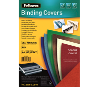 Fellowes leathergrain covers red A4