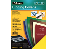 Fellowes leathergrain covers yellow A4