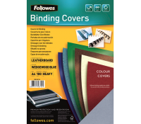 Fellowes leathergrain covers wedgewood blue A4