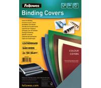 Fellowes leathergrain covers dark green A4