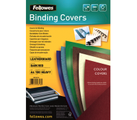 Fellowes leathergrain covers dark red A4