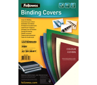 Fellowes leathergrain covers ivory A3