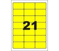 100 x Multicom PCL21  Colour labels